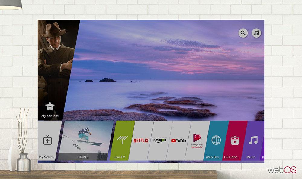 سیستم عامل WebOS ال جی در تلویزیون NANO80